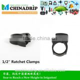 "Drip irrigation PE pipe fitting 1/2"" Ratchet Clamps"