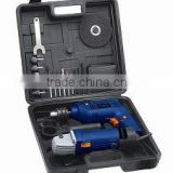 2PCS Power Tools Set mini angle grinder and impact drill