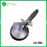 Hot Sale 100% food grade Multi function round pizza kitchen aid High Quality Stainless Steel Pizza peel pizza knife
