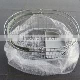 handmade stainless steel fruit basket steel wire egg basket metal wire fruit basket wholesale