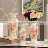 a container that is used for holding flowers,good quality ceramic vase for home decoration,decorated ceramic vase for wedding