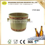 wholesale paulownia wood ice bucket for beer or wine