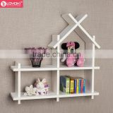 lovely house style wooden floating shelf wholesale home decor wall mount shelving for kids room wall shelf bracket