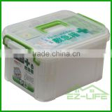 hot selling home decoration storage functional emergency plastic trunk medical first aid kit storage box