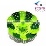 Hot sale plastic adjustable steamer PP+silicone food grade vegetable steamer