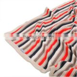 Baby Cotton Blanket, Stripe Knitted Wool Throw Blanket For Baby, Wool Throw Blanket
