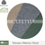 Custom color 100% merino wool fabric wholesale