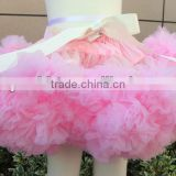 2014 New hot charming Super Fluffy Girls Party Dance Coral Pettiskirts Ballet Girls Ruffled Tutu Fluffy Chiffon Soft Pettiskirt