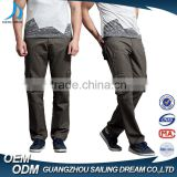 Wholesale price trade assurance nice workmanship promotional mens baggy cargo pants with bellows pockets