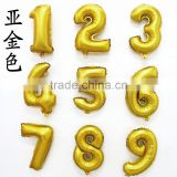 Gold Digital Aluminum 0-9 Big Balloons Party Decoration Wedding Supplies Happy Birthday Decoration