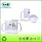 Hot product summer plastic transparent beer cup plastic beer mug , beer glass with handle