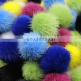 Colorful Custom Mink Fur Pom Pom Various Dyed Colors Natural White For Keychains RIngs Bracelet