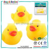 Hot sale small rubber farm animal toys yellow plastic ducks