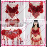 Aidocrystal Tribal Belly Dance Costume top Handmade Sexy Dance Bra