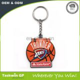 Promotional gifts rubber key chain / custom basketball pvc keychain / plastic silicon keychain
