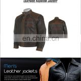 Fashion Men's slim fit Leather Jacket