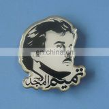 personalized printing Qatar people head logo territory shaped lapel pin for gifts