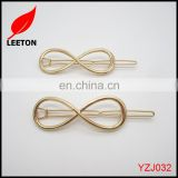 Factory supply Shiny gold Lady fancy metal fashion hair clip