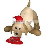 christmas decoration Animated Inflatable Retriever dog with led