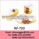 Professional Alibaba Express Wholesale White Ceramic Breakfast Set for Disposable Tableware