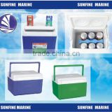 5L/10L Filp Type cooler box/ Portable electric cool box car fridge/ cup holder for car for boat for camping lorry for truck