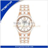 Wholesale Branded Bling Bling Face Ceramic Unisex Watch