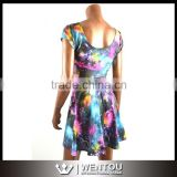 Festival Star Print Dress Women Dress Unique                                                                         Quality Choice