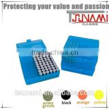 New ammunition-wholesale plastic bullet box rifle case storage box blue for reloading bullets (TB-905)