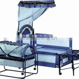 New Design Fashion Cradle Baby Cot Bed with Net, for kids BM6A812