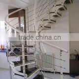 toughed glass steel spiral staircase