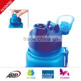 Eco Friendly Soft Foldable Silicone Water Bottle