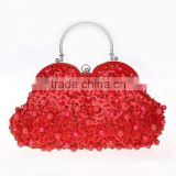 fashion hot sale handmade beaded clutch bag india