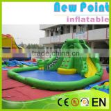 New Point inflatable water slides for summer,promotional inflatable slide swimming pool,inflatable water slides for kids