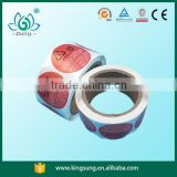 Color printing frozen water proof food label on roll