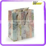New Design Hot Selling Luxury Paper Clothes and Shoes Travelling Navagate Serious Shopping Bag