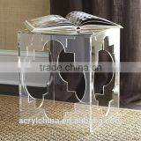 acrylic side table 16x 19 inches/ Contemporary Minimalist Acrylic Stool Multi-Use Side Table/ Magazine Rack                                                                                                         Supplier's Choice