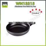 Aluminium high quality frying pan sets pizza pan marble coating aluminium fry pan with bakelite,soft touch handle