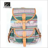wholesale alibaba supplier thinkee custom high quality drawstring backpack girls fashion aztec canvas backpack