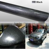 Fashion Hot Sales Pearl Diamond Car Wrap Vinyl Black Glitter Vinyl Paper                                                                         Quality Choice