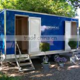 Travel trailer frames, Portable Toilet, Movable trailer Toilet