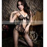 sexy hot wholesale price queen style net hollow out women lingerie                                                                         Quality Choice