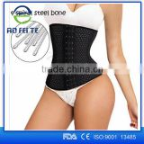 Aofeite Wholesale polyester body slimming latex corset waist trainers, waist abdomen latex waist trainer