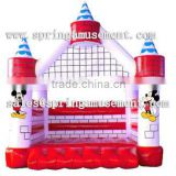 Red inflatable bouncer,mickey mouse castle,jumping inflatable bouncer for sale SP-IB032