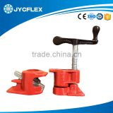 China Manufacturer Wholesale Cheap cast iron pipe clamp for Europe market/rubber line clamp