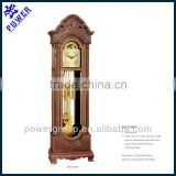 Traditional arts grandfather clock Solid wood Strikes every half and hour German made Hermle movement MG2106BP