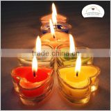 heart candle cup metal candle cup glass candle cup