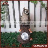 resin owl ornaments with solar garden spot light                                                                         Quality Choice