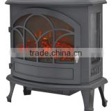 3 Side View Freestanding Electric Fireplace