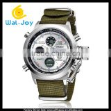 WJ-5252-1 nylon strap double movement high quality water resistant OHSEN brand sport watch