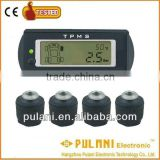 Real-time showing of alarm status wireless tire pressure control system external tpms